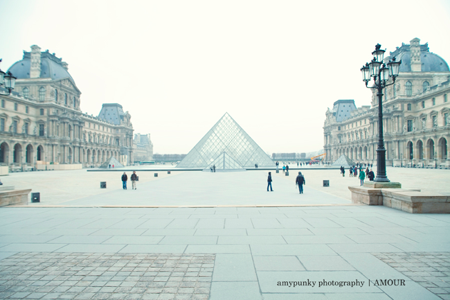 Pyramid of Louvre in Paris