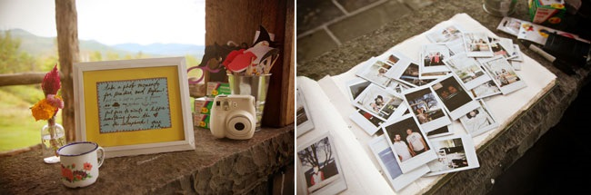 Polaroid Guestbook idea