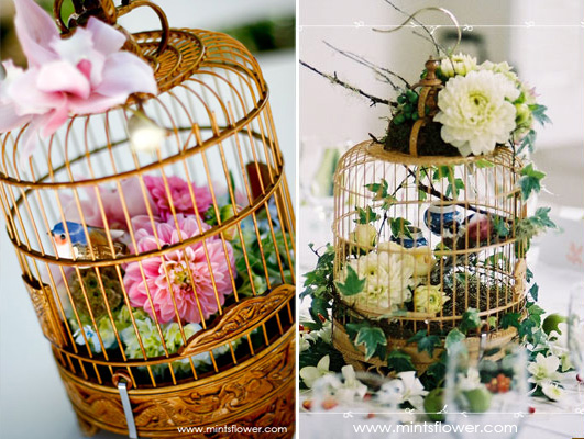 Wedding centerpiece ideas - birdcages!