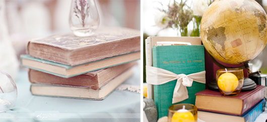 Wedding centerpiece ideas - books