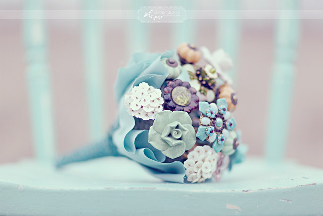 Bridal bouquet made from doorknobs and drawer pulls