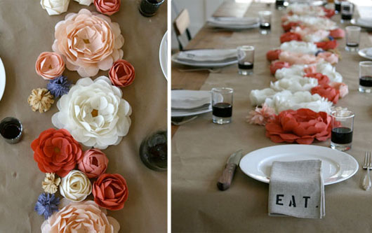 paper flowers for a centerpiece