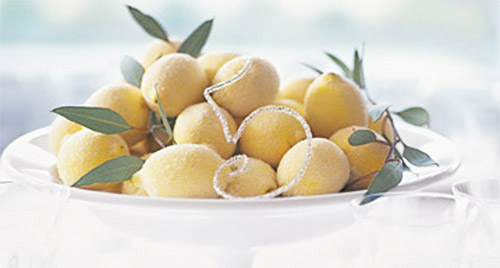 sugared lemons centerpiece