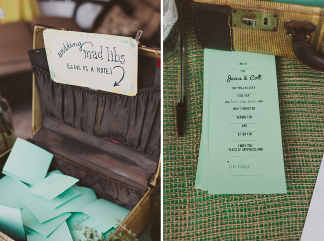 wedding madlibs guest book