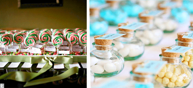 Candy wedding seating charts