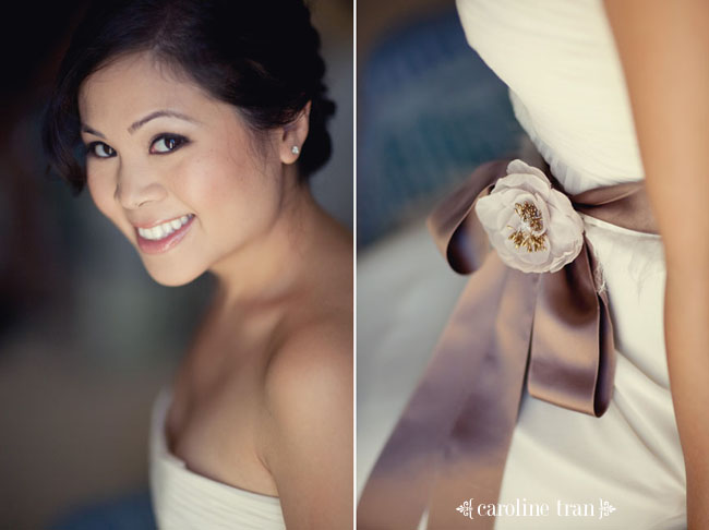 Cambodian bride in white reception dress
