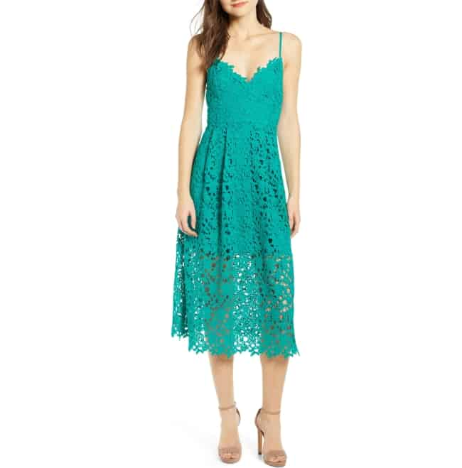 Lace Medi Dress for honeymoon travel essentials for her