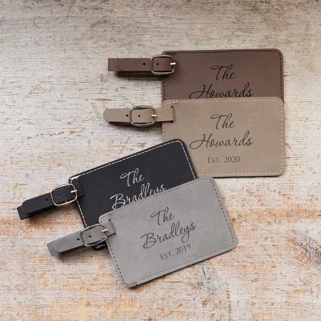 Personalized Wedding Honeymoon Luggage Tags