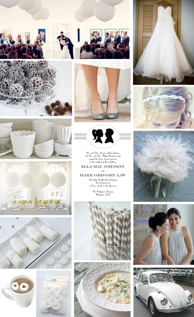 Indoor Wedding on a Budget - Inspiration Board