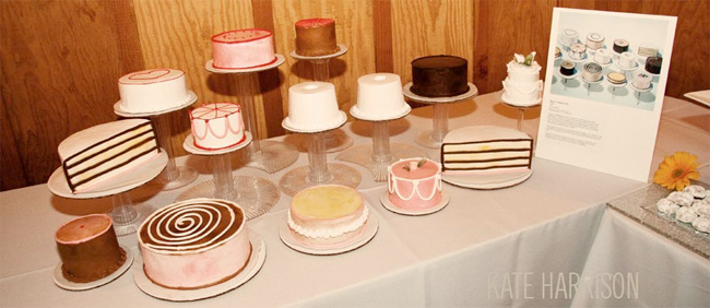 Thiebaud inspired wedding dessert table idea