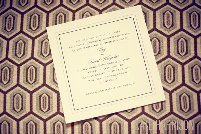 Classic invitation for wedding
