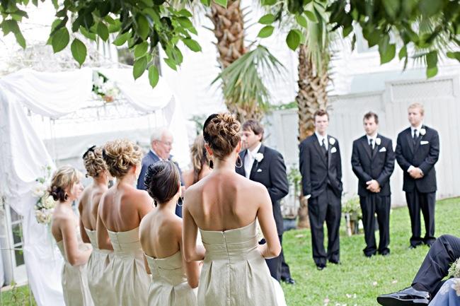 wedding ceremony held outdoors