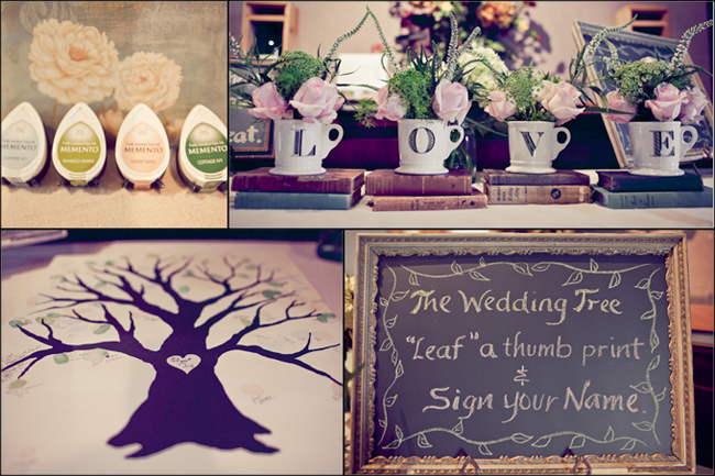 wedding tree guestbook for California vineyard wedding
