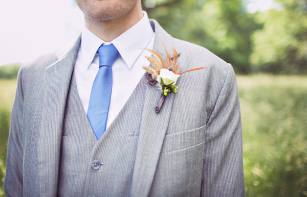 groom's whimsical boutonniere