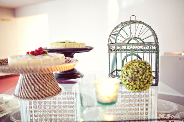 display of desserts with whimsical decor