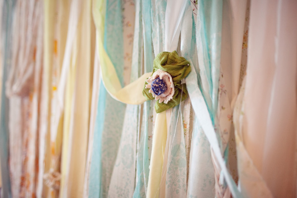 colorful backdrop draperies