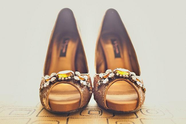 yellow crystal peep toe heels