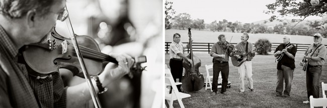 black and white photos of bluegrass band for Wedding at Marriott Ranch