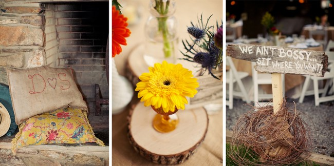 decor and details for wedding at Marriott Ranch