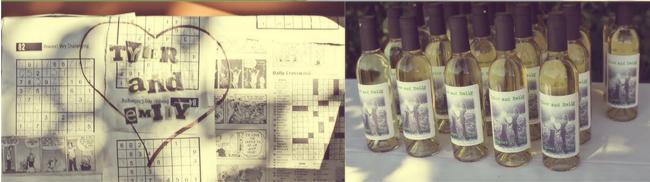 Homemade wine favors
