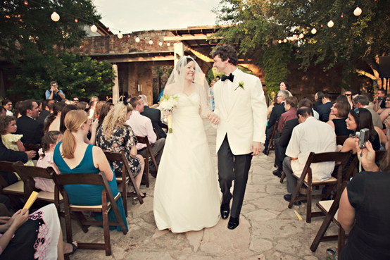 wedding recessional at Ladybird Johnson Wildflower Center