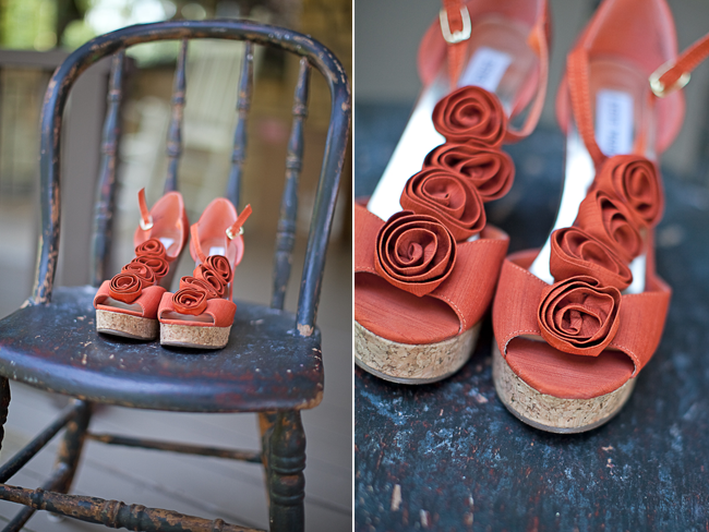 Coral Steve Madden wedding shoes