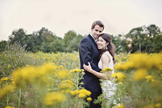 ben and aileen in field