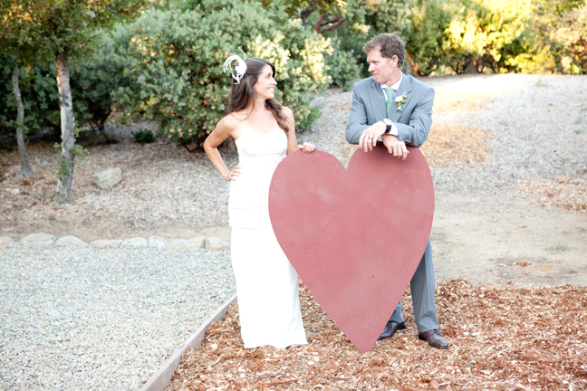 giant red heart prop