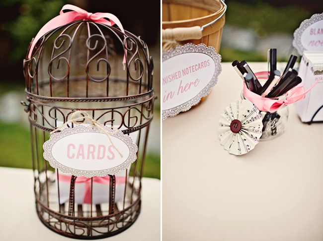 birdcage for wedding cards