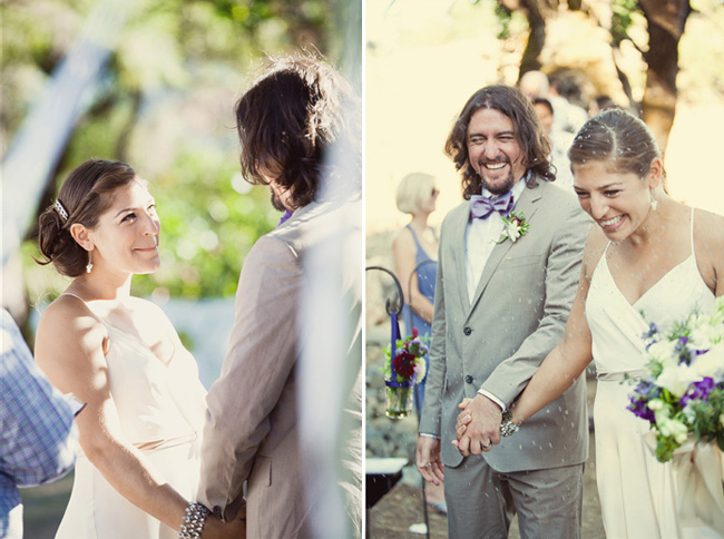 bride and groom laughing at Anvil Vineyard & Ranch wedding