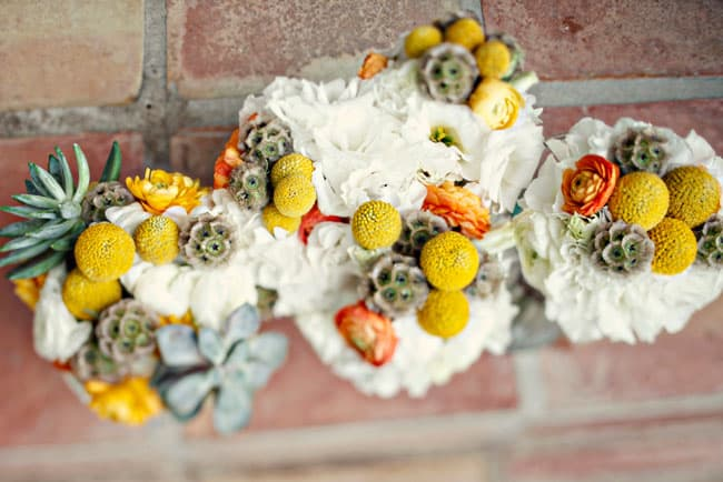 billyball succulent bridal bouquet
