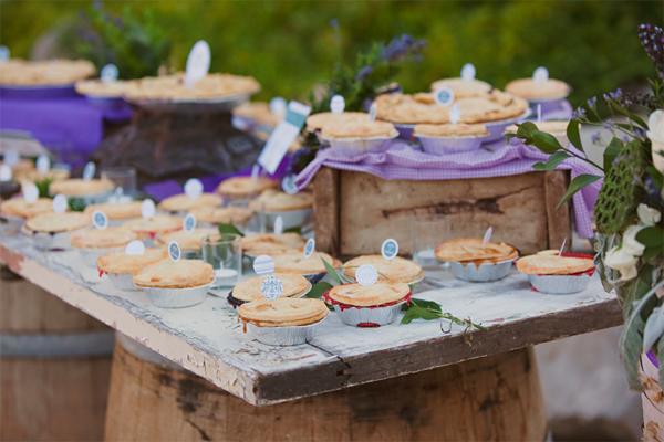 Pie Inspiration - mini pies on dessert table