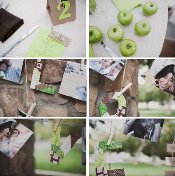 green and ivory wedding decor ideas
