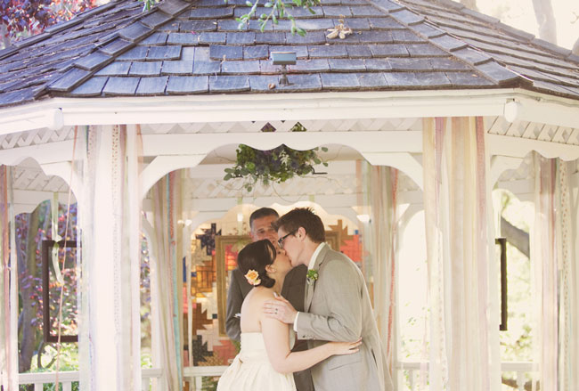 wedding ceremony in gazebo