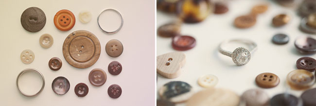 collection of buttons with rings