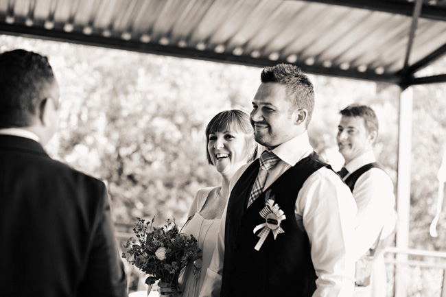 black and white photo of bride and groom wedding ceremony at  Red Ivory Lodge wedding in South Africa