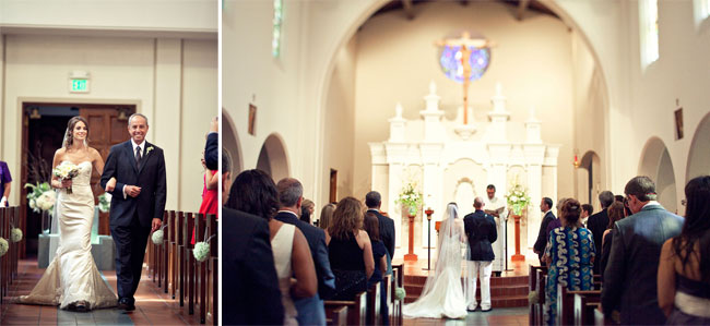 US Marine church wedding ceremony