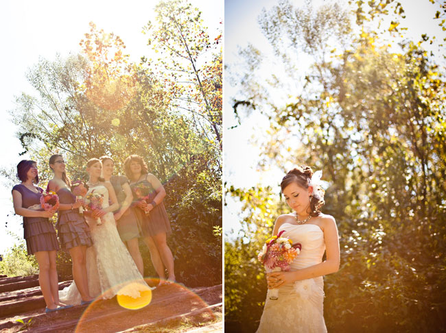 Bride and bridesmaids at Colonel Francis Beatty Park