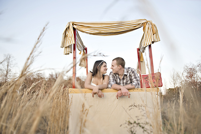 Yellow Striped Kissing booth