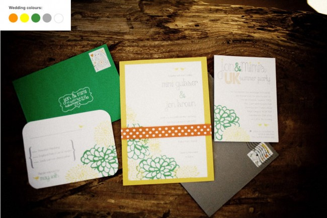 Budget friendly Hawaiian wedding stationery handmade