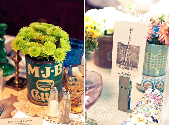 oversized clothes pins with photo table number