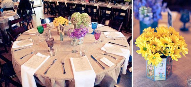 safari themed reception table