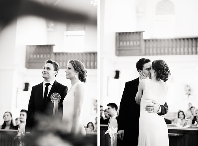 Stylish South African Wedding Ceremony - Black and White Photo