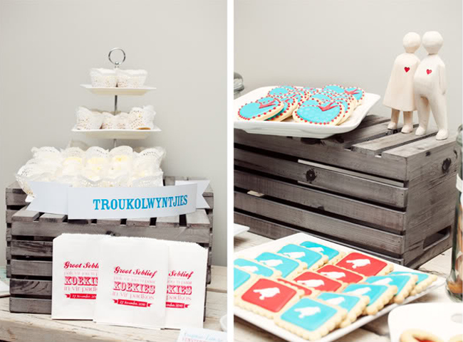 Stylish South African Wedding - dessert table with cookies