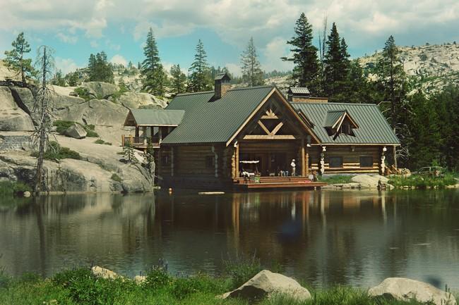 Image Gallery Log Cabin On Lake