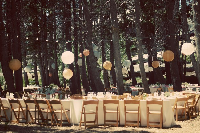reception tables and chairs with balloons