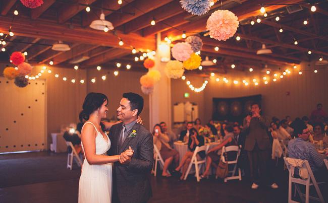 Strawberry Farms Wedding Reception - Bride and Groom Dance