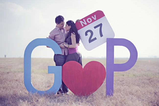 DIY  giant letters, heart shape, and calendar date