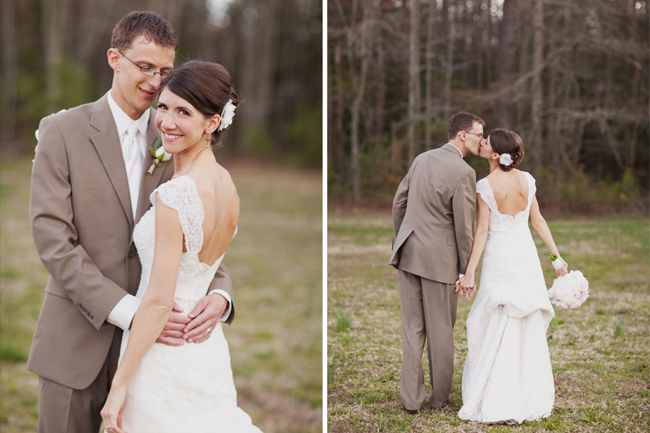 bride and groom photos at Ashland Berry Farm