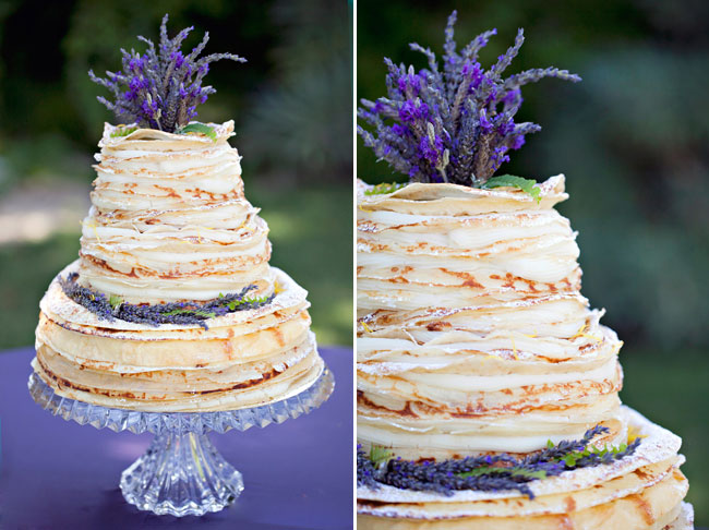 Real Lavender to top the wedding cake